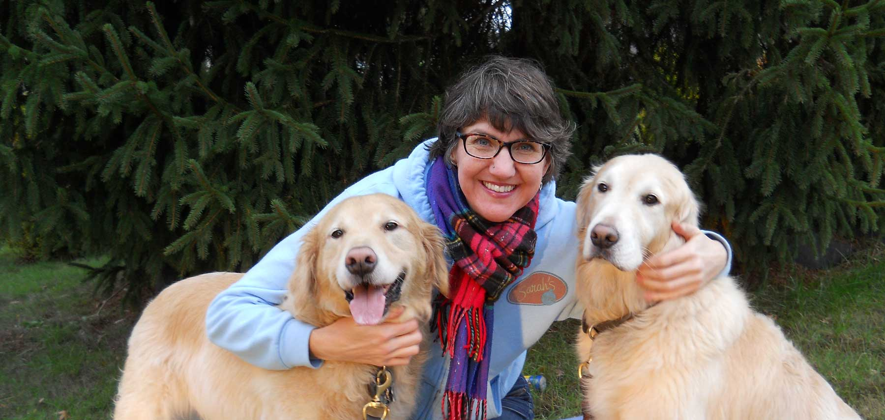 sarah-with-dogs